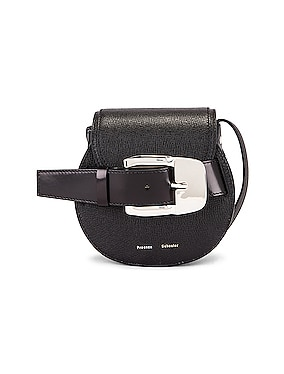 Mini Leather Buckle Crossbody Bag