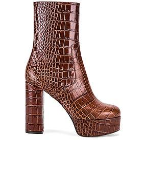 Moc Croco Platform Ankle Boots