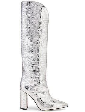 Metallic Croco High Boot