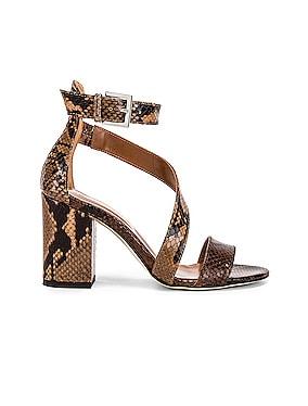 Diagonal Strap Snake 80 Sandal Heel