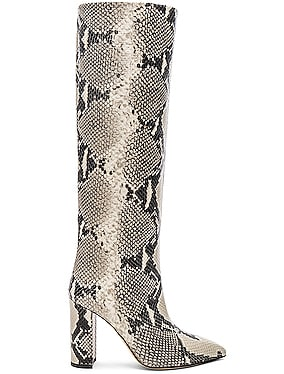 Knee High Python Print Boot