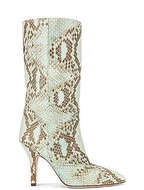Faded Python Print Midi Boot