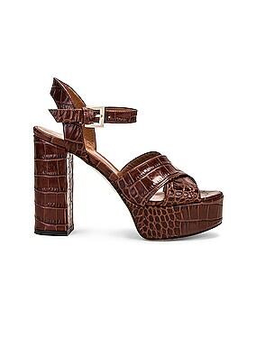 Moc Croco Platform Sandal