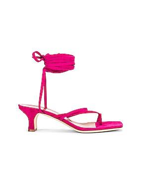 Suede Wrap Sandal