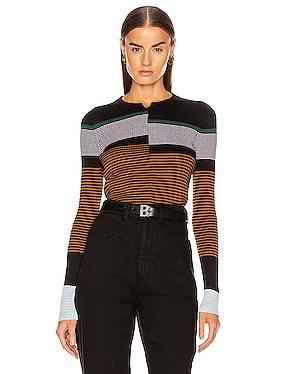 Fine Gauge Rib Pullover