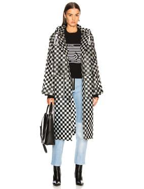 Checkerboard Anorak Raincoat