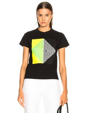 Split Diamond Printed Tee
