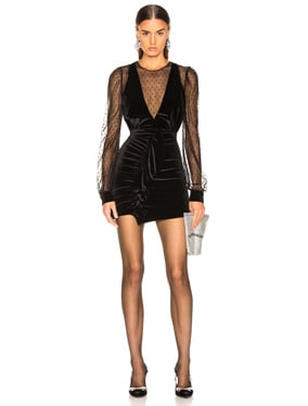 Velvet & Tulle Mini Dress