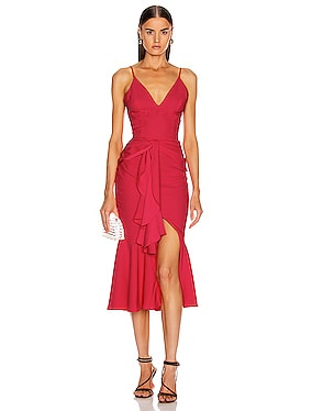 Bo Ruffle Midi Dress