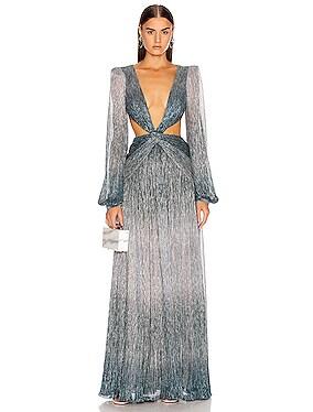 Ombre Lurex Cutout Gown