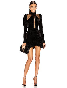 Velvet and Lurex Mini Dress
