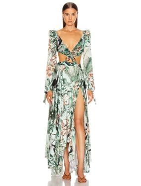 Eden Print Cut Out Maxi Dress
