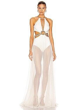 Beaded Cutout Beach Dress