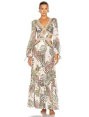 Palmeira Long Sleeve Crotchet Beach Dress