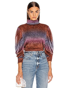 Rainbow Lurex Super Sleeve Top