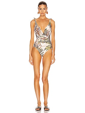 Palmeira Belted One Piece