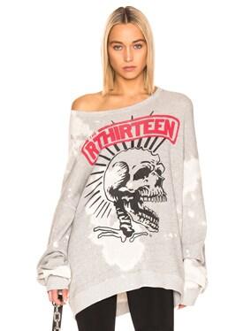 Exploited Punk Oversized Crewneck Sweater
