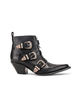 Ankle Three Buckle Boot