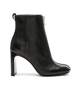 Leather Ellis Zip Boots