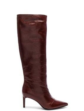 Leather Beha Knee High Boots