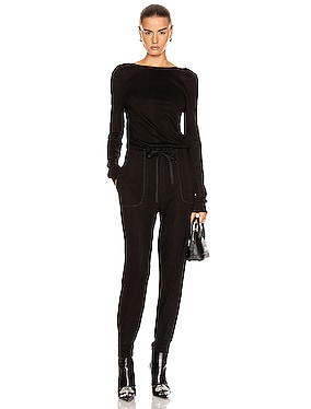 Division Rib Scoop Back Jumpsuit