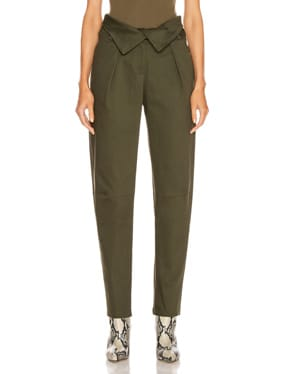 Petite Corduroy Fold Over Pant