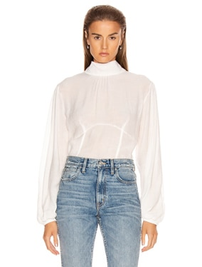 Vapor Voile Corset Volume Sleeve Top