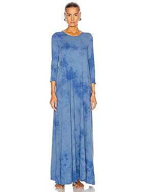 Half Sleeve Drama Maxi Dress