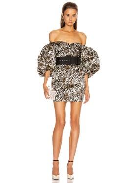 Puff Sleeve Mini Dress