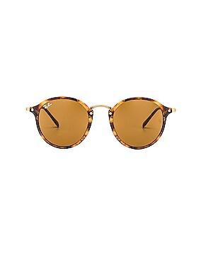 Round Fleck Sunglasses