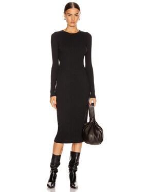90's Long Sleeve Ribbed Dress