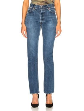 Reconstructed Pocket Straight Leg Levi's Jean