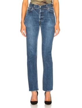 Reconstructed Pocket Straight Leg Levi's Jean