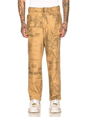 Wide Leg Patch Pocket Trousers