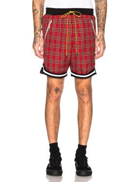 Plaid Basketball Shorts