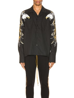 Eagle Embroidered Button Up
