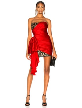 Draped Dress with Detail