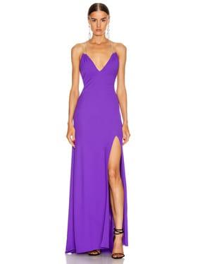 Jersey Crepe Crystal Strap Dress