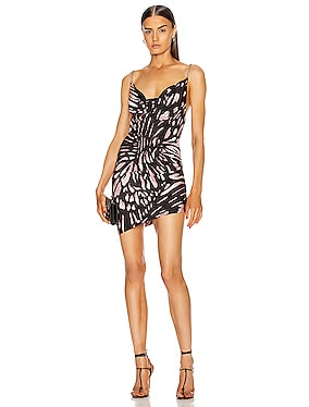 Butterfly Printed Mini Dress