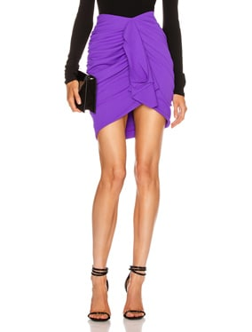Draped Crepe Mini Skirt