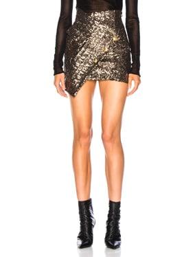 Asymmetric Sequins Skirt