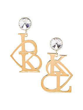 K & L Heart Earrings