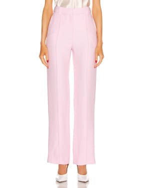 Pintuck Straight Trouser