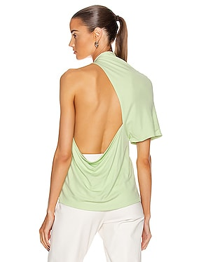 Asymmetrical Backless T Shirt