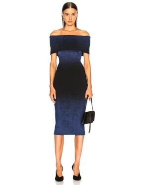 Bardot Degrade Velvet Knit Dress