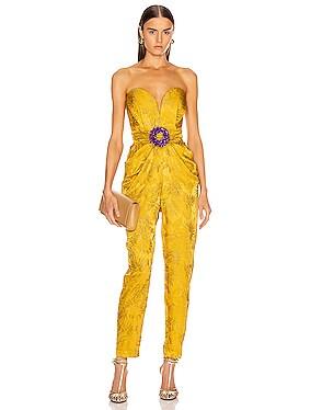 Embellished Strapless Jumpsuit