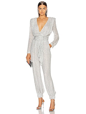 Strass Belted Jumpsuit