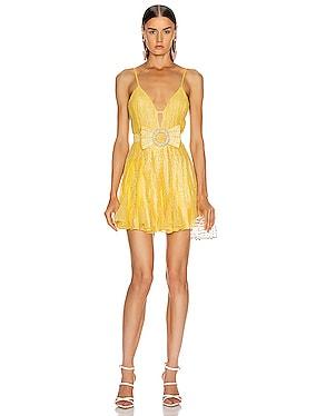 Strass Embellished V Neck Mini Dress