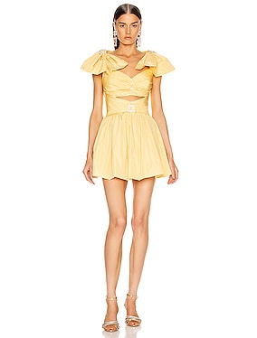 Ribbon Shoulder Mini Dress