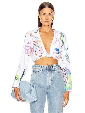 Button Up Paisley Shirt